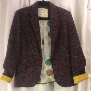 Anthropologie Jackets & Coats - Anthropologie Cartonnier cozy plum blazer